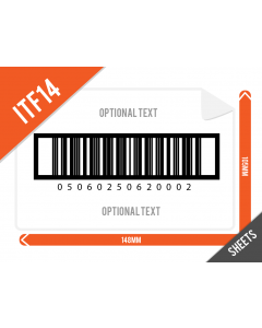 ITF14 (GTIN14) Barcode Label 105mm x 148mm