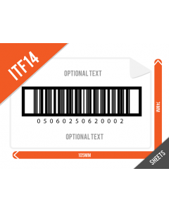 105mm x 74mm ITF14 (GTIN14) Barcode Labels