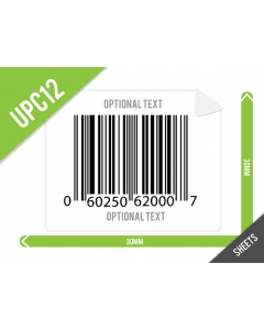 30mm x 30mm UPC-A (GTIN12) Labels