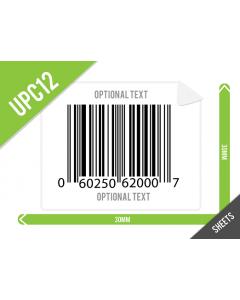 30mm x 30mm UPC-A (GTIN12) Labels